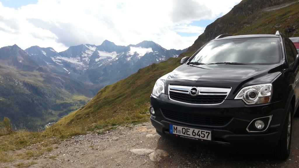 Opel Antara в итальянских Альпах. Южный Тироль.