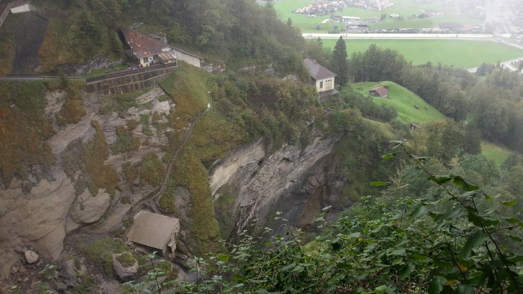 Рейхенбахский водопад. Конечная станция фуникулера.