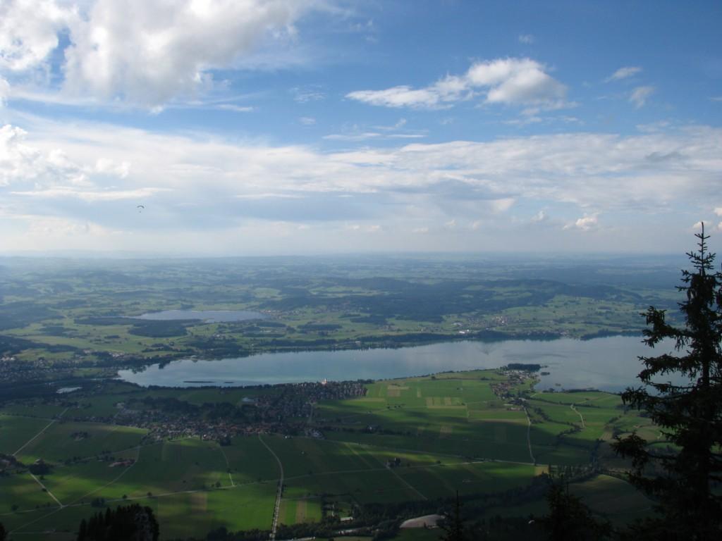 Долина Швангау. Вид с канатной дороги Тегельберг.