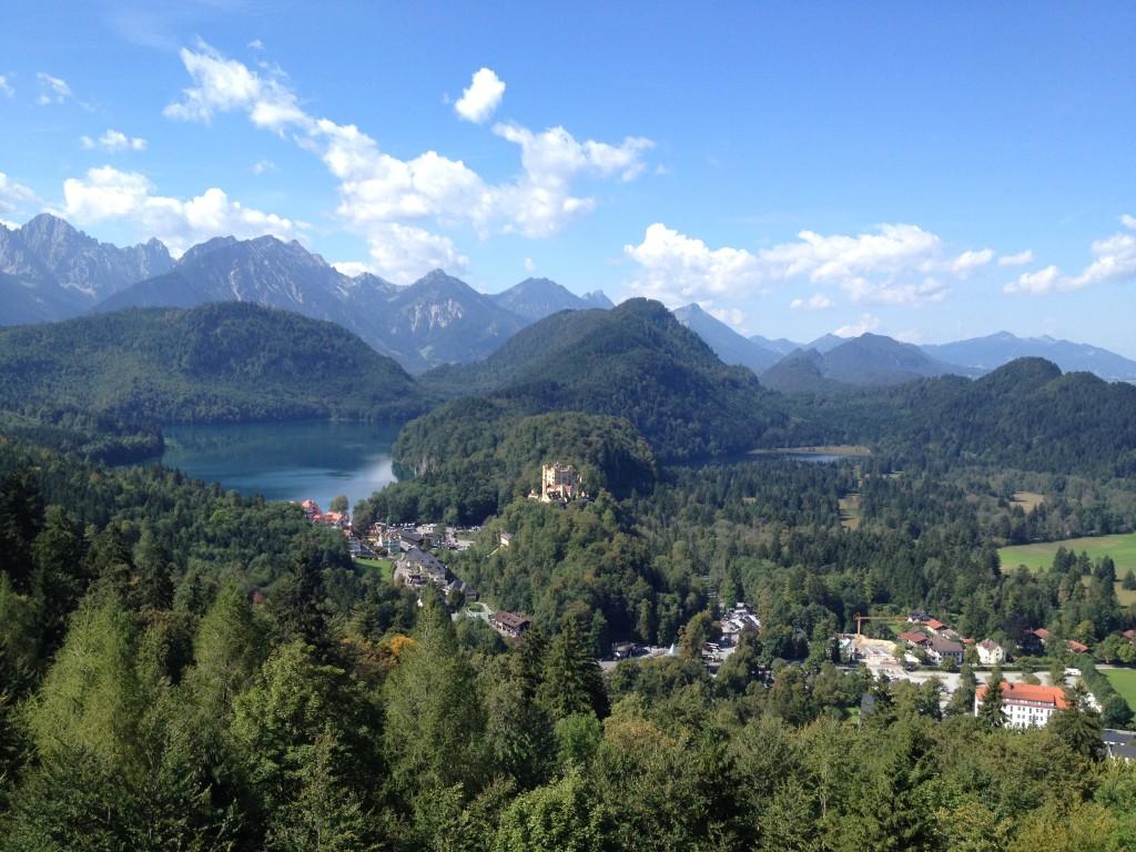 Швангау и озеро Альпзее