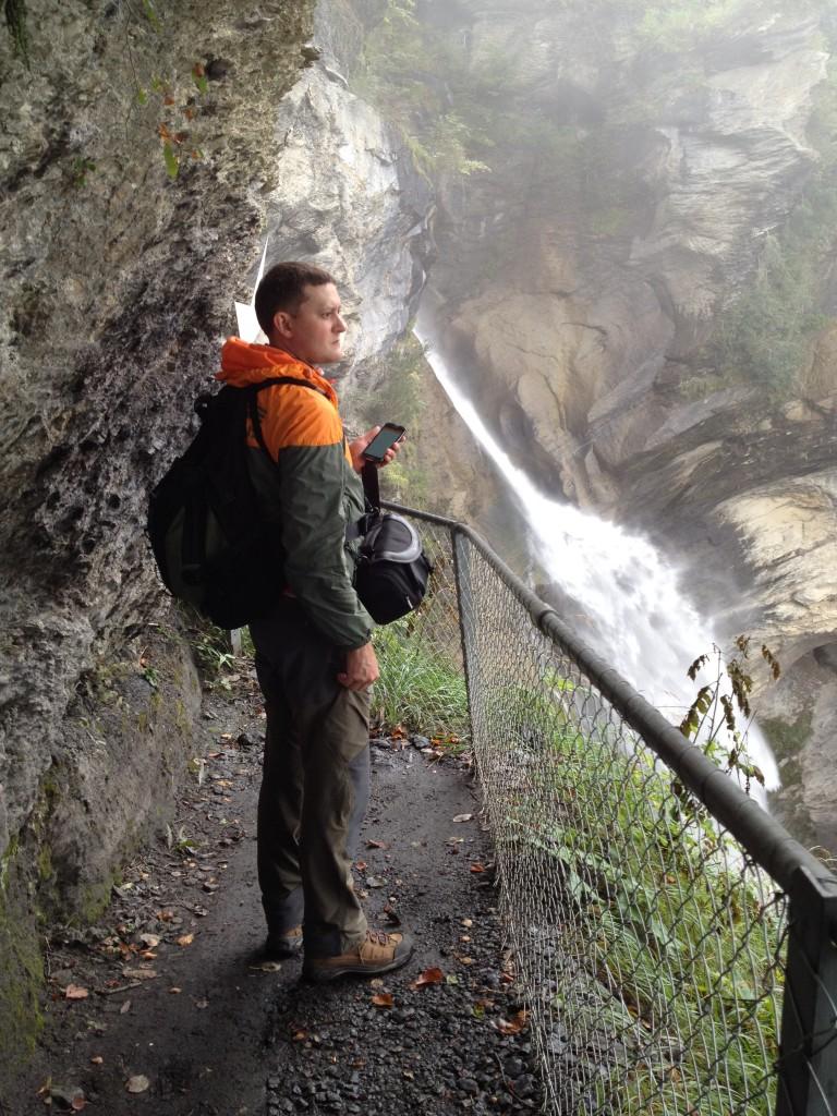 Рейхенбахский водопад. Место схватки Шерлока Холмса и профессора Мориарти.
