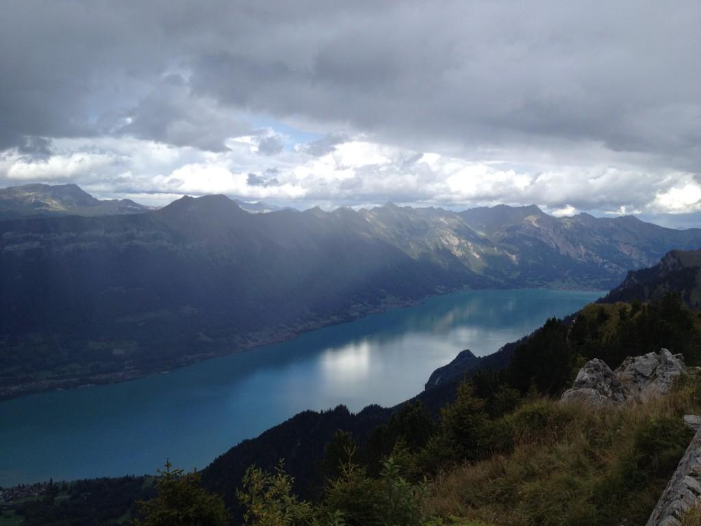 Щюниге Платте. Вид на озеро Бриенцское озеро.