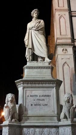 Флоренция. Статуя Данте Алигьери.