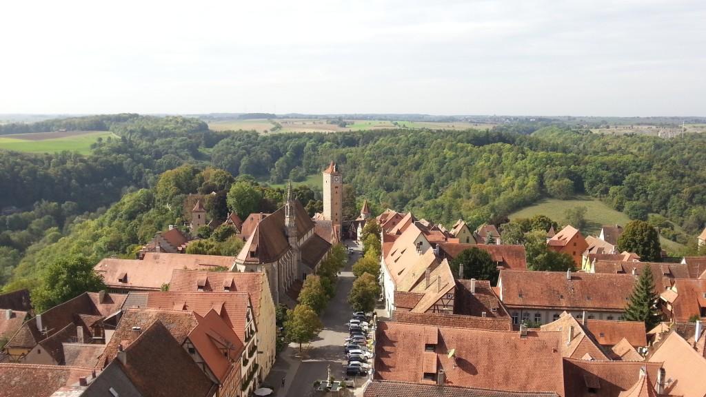 Ротенбург-об-дер-Таубер. Панорама с Башни Ратуши.