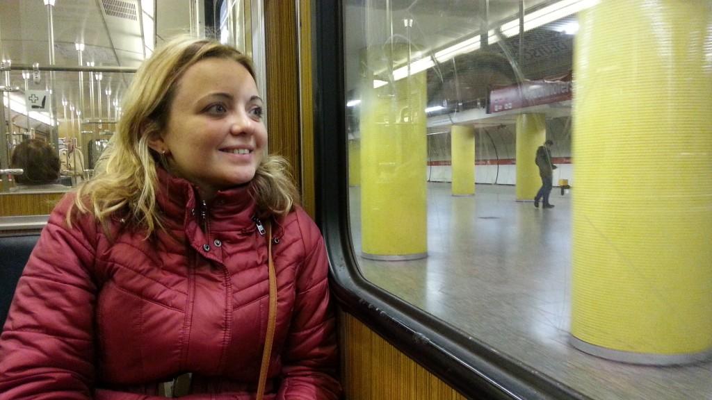 В вагоне мюнхенского метро