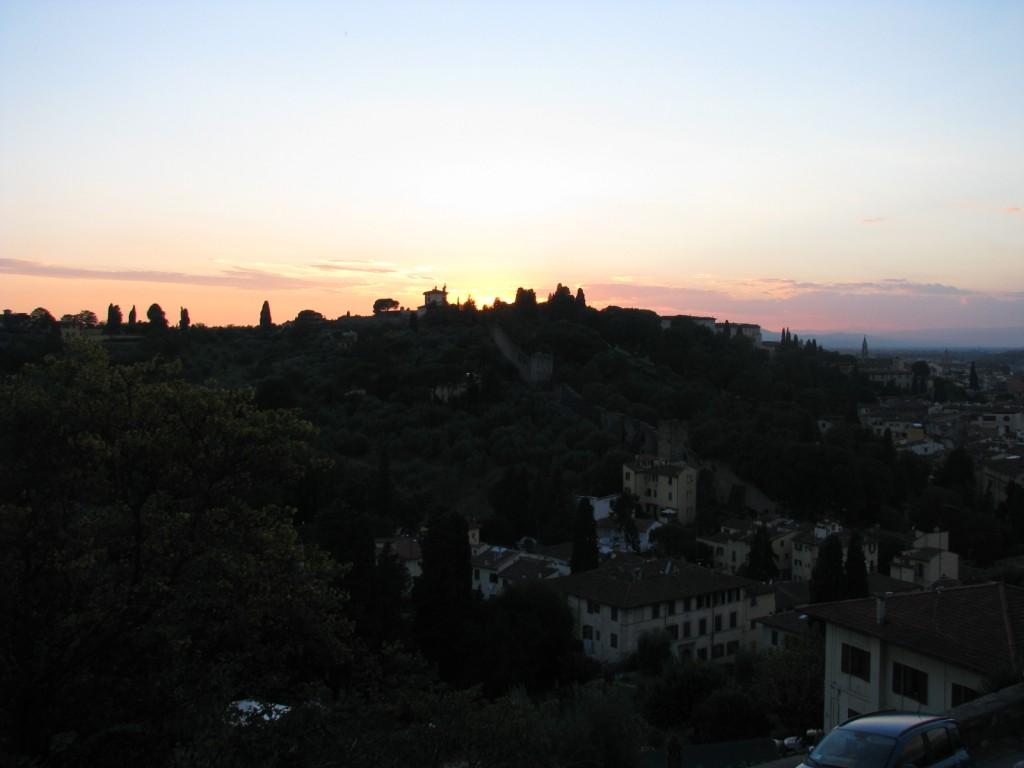 Флорентийские холмы на закате