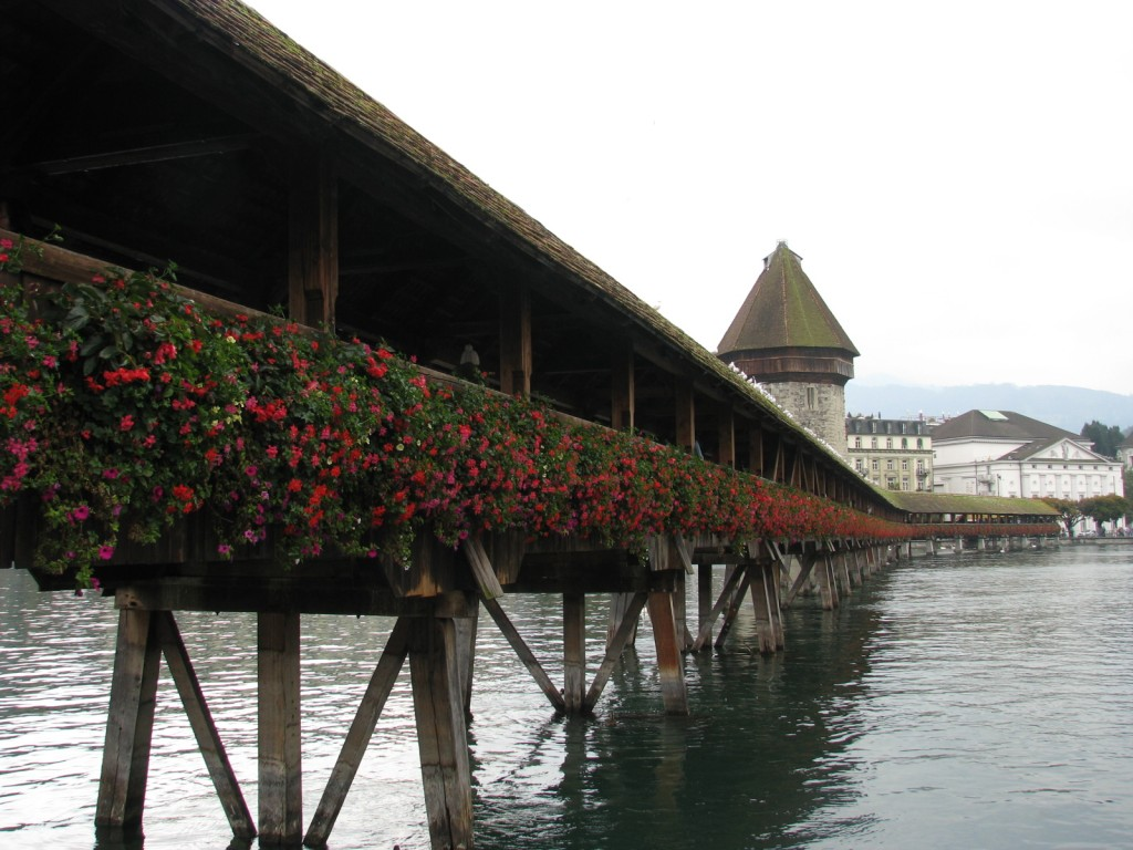 Luzern. Kapellbrucke bridge.