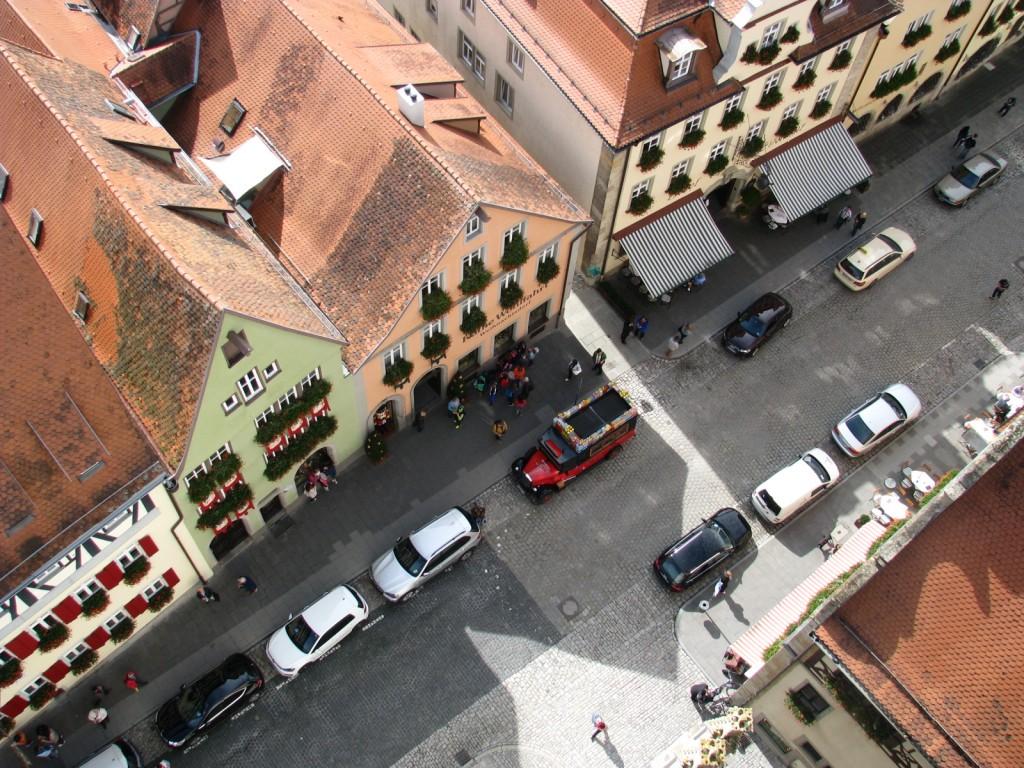 Улочки Ротенбурга-на-Таубере с высоты птичьего полета