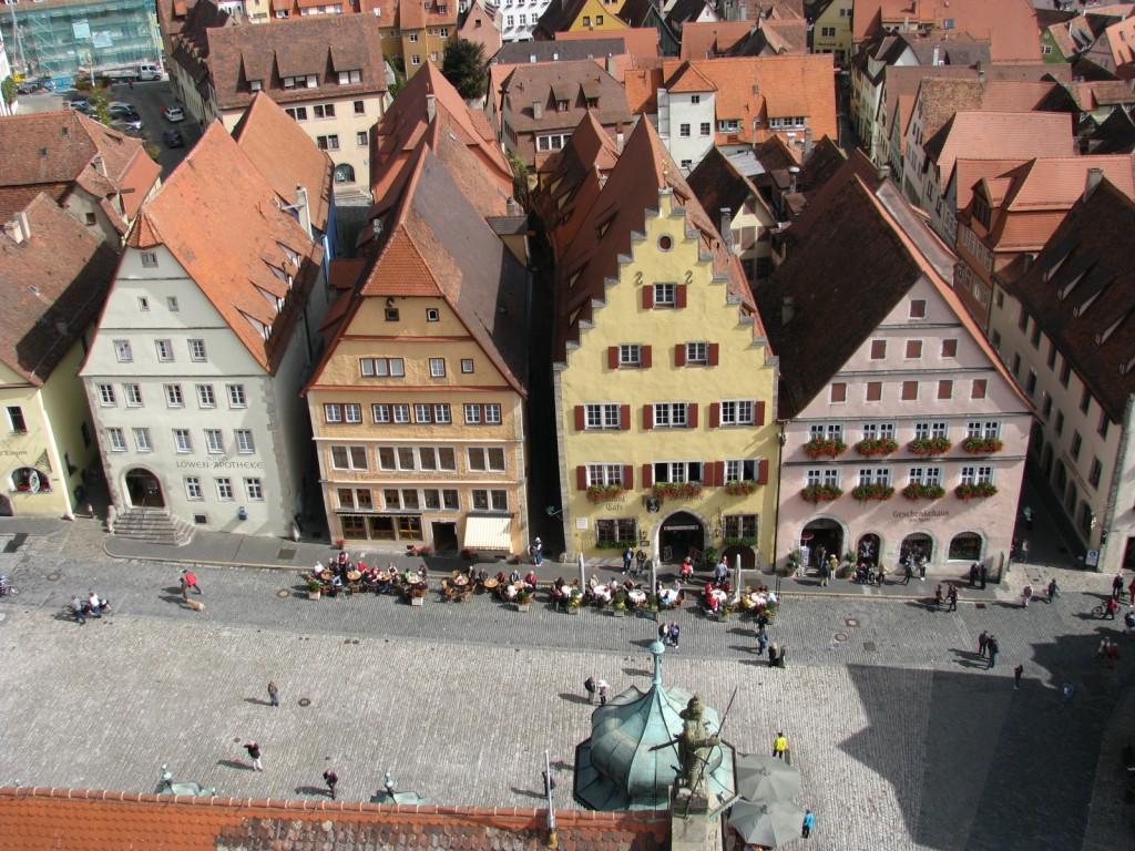 Ротенбург. Markplatz. Домики на Рыночной площади.