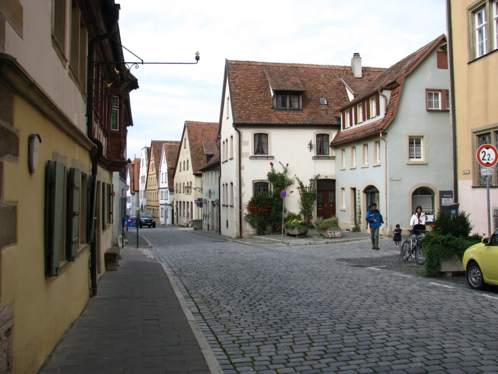 Ротенбург-об-дер-Таубер. Тихие улочки города.