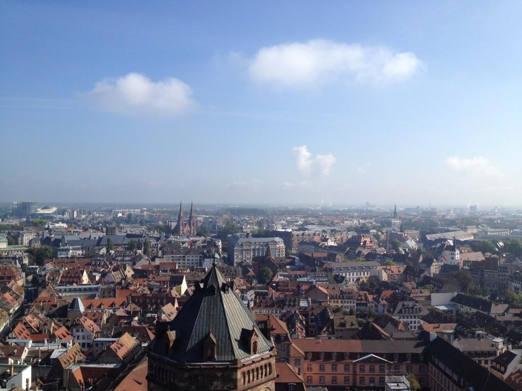 Страсбург. Вид на город с высоты Кафедрального собора.