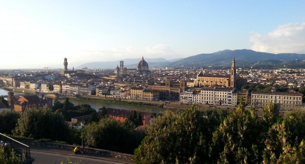Панорама Флоренции с площади Микеланджело