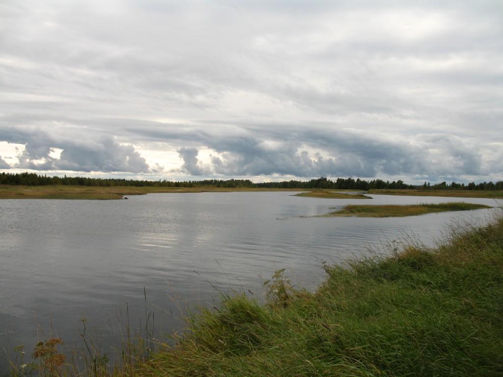 Река Унежма во время прилива