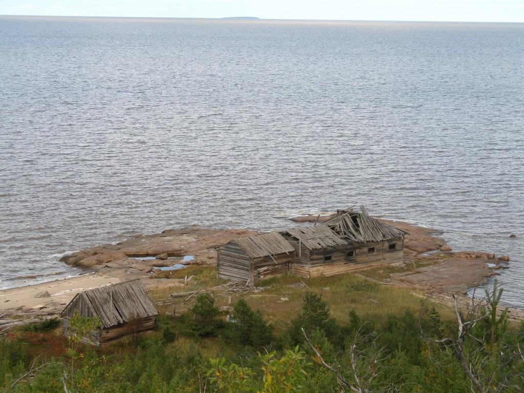 Унежма. Белое море. Побережье. Вид с Великой Вараки.