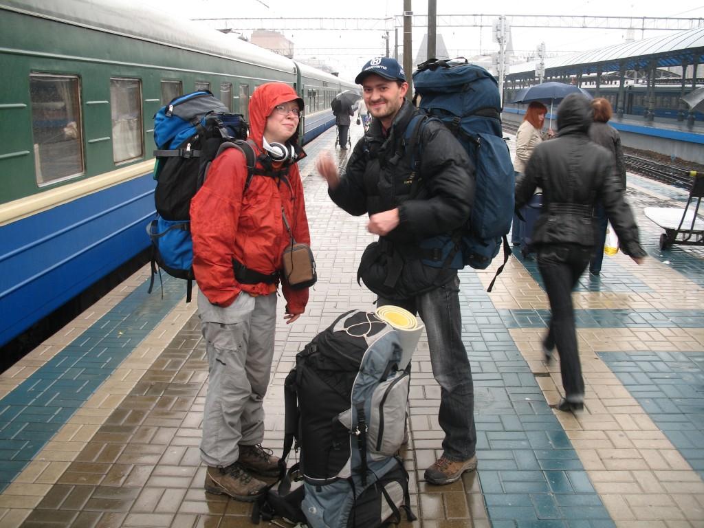 Возвращение из Унежмы. Ярославский вокзал.