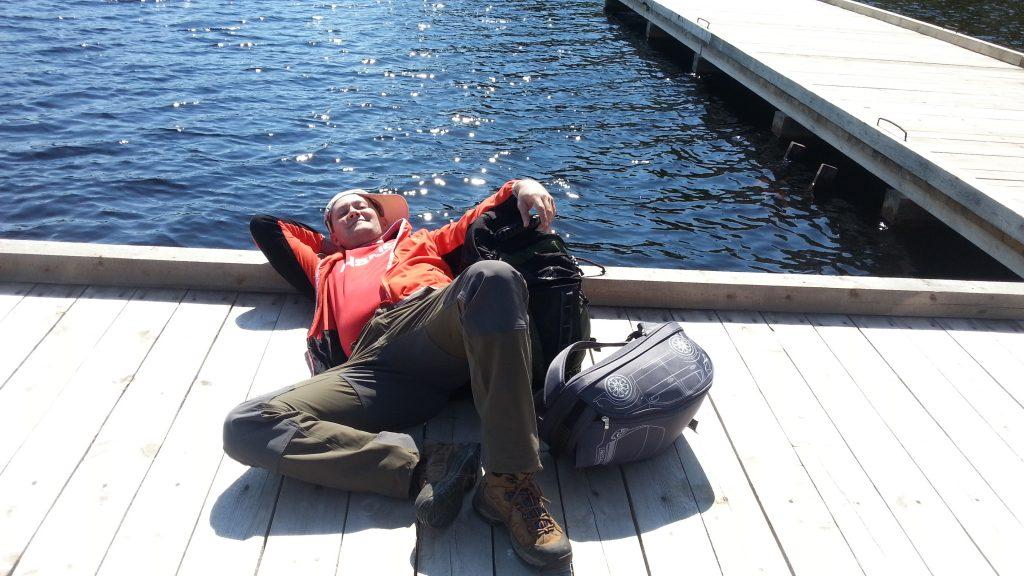 Причал на озере Большое Корзино. Андрей.