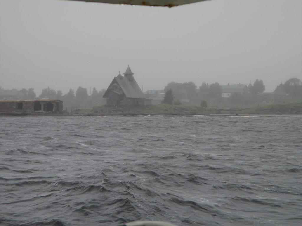 Неспокойное Белое море. Декорации фильма Остров.