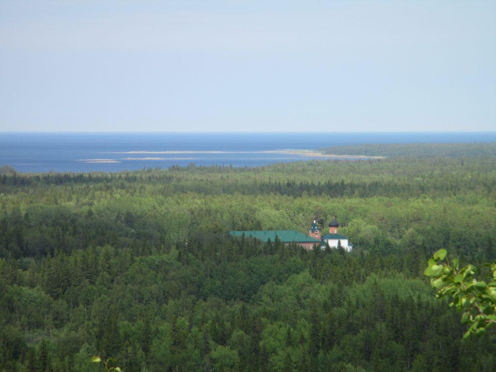 Гора Секирная. Вид с обзорной площадки.