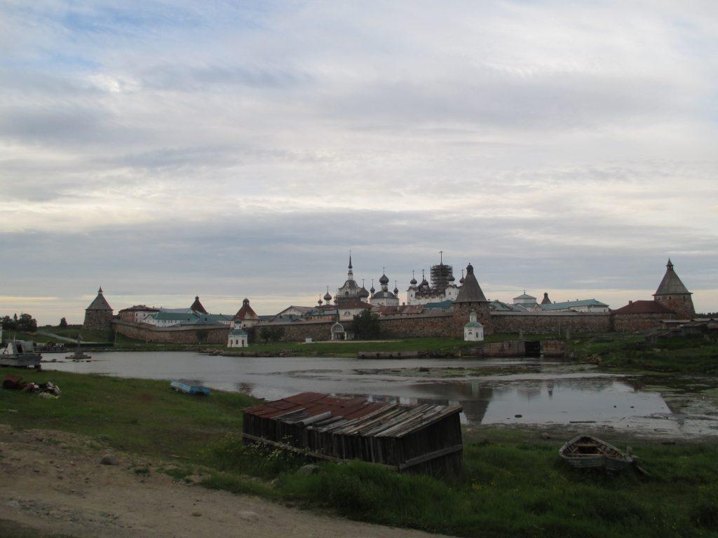 Соловецкий монастырь. Вид от бухты Благополучия.