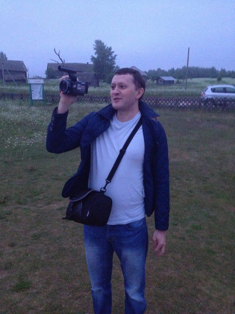 Видеооператор за работой. Андома-гора. Северный Марш или Кола-2015.