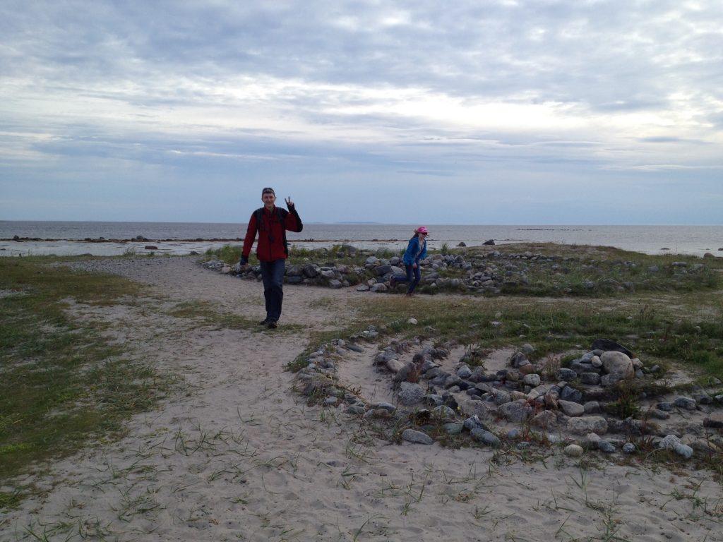 Каменные лабиринты на острове Большой Соловецкий