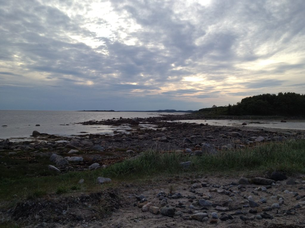 Соловки. Закат на Белом море. Белые ночи.