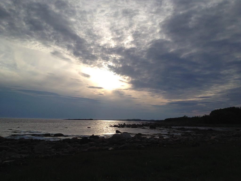 Белная ночь на Белом море. Соловки.