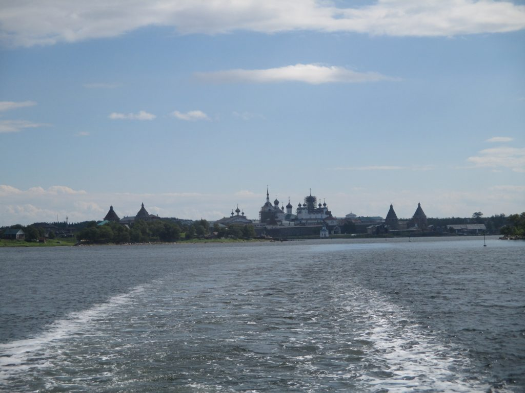 Соловецкий монастырь. Вид с моря.