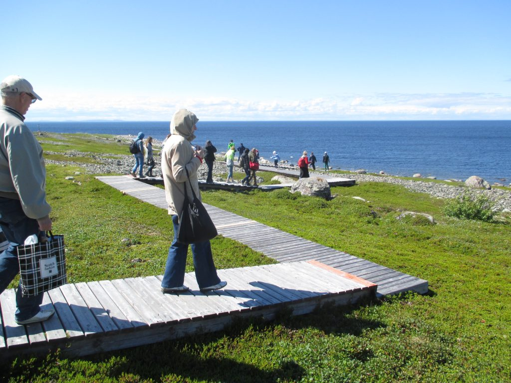 Деревянный настил для экскурсий на острове Большой Заяцкий