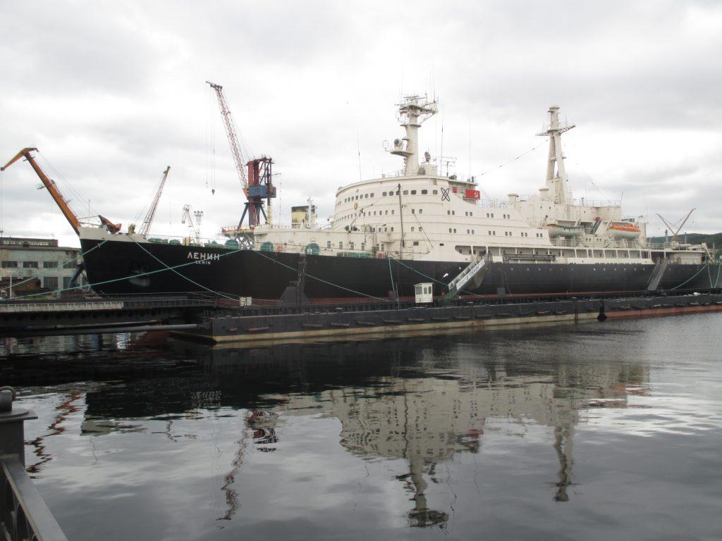Атомный ледокол Ленин в Мурманске