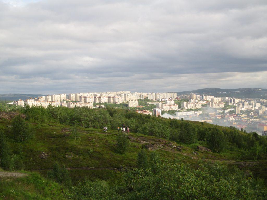 Панорама Мурманска. Мыс Зеленый.