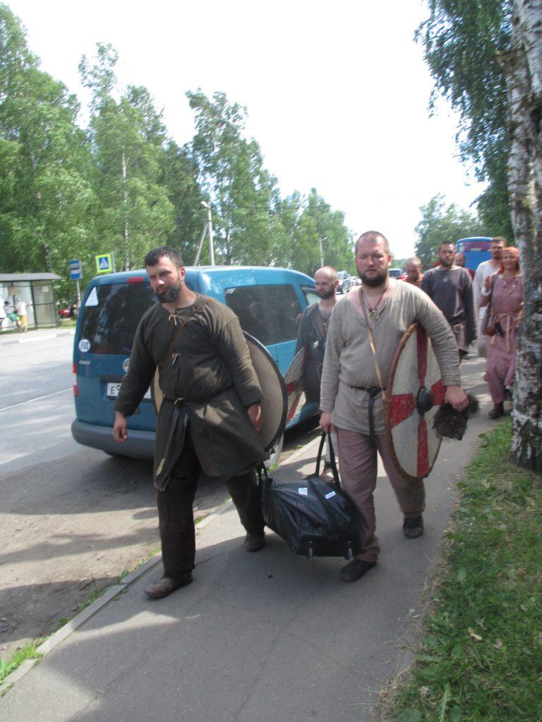 Старая Ладога. Участники исторического фестиваля.