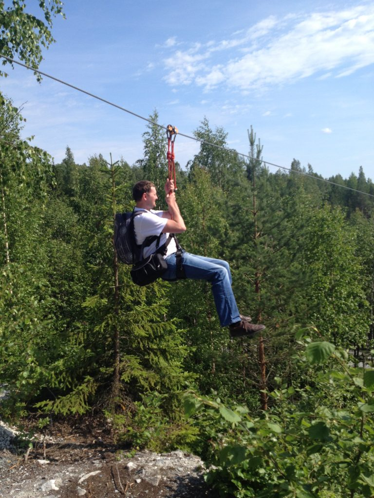 Горный парк Рускеала. Полет на Zipline.