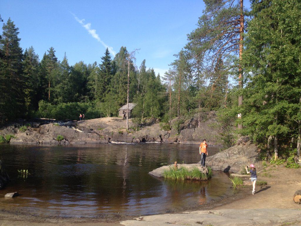 Водопады Ахинкоски близ Рускеалы