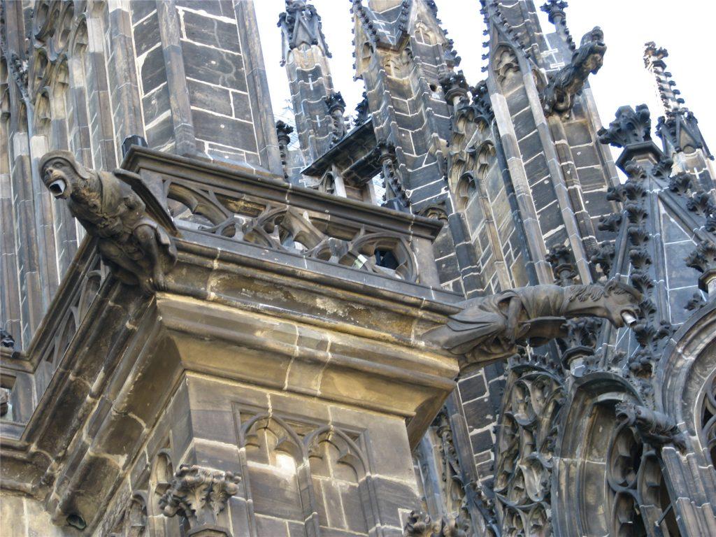 Собор святого Вита в Праге. Гаргульи.