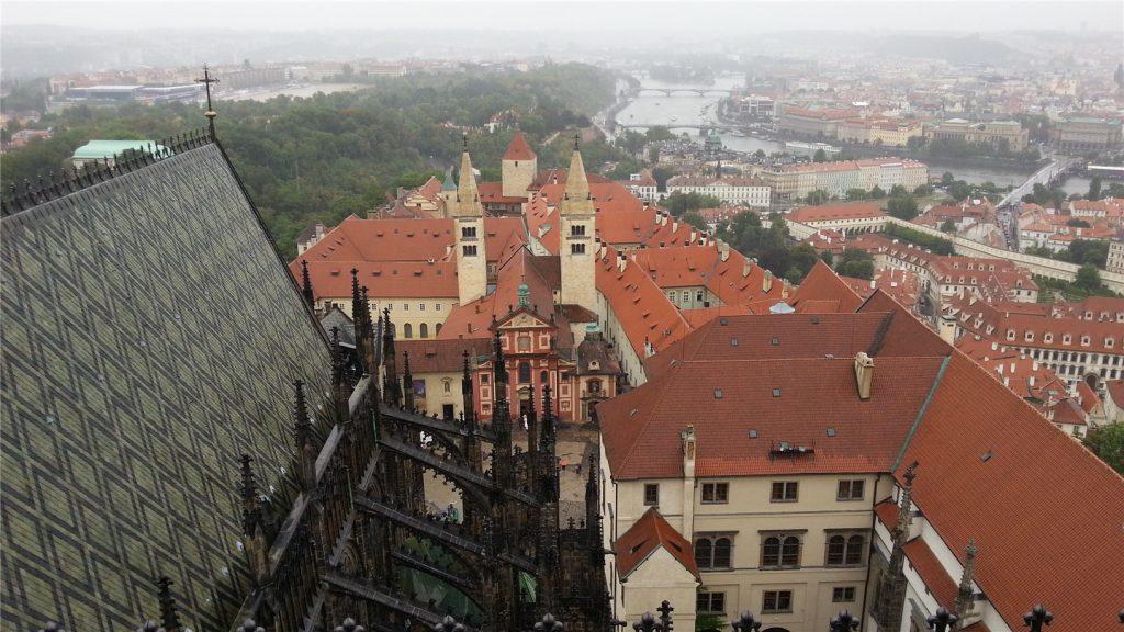Прага с южной башни Собора св.Вита