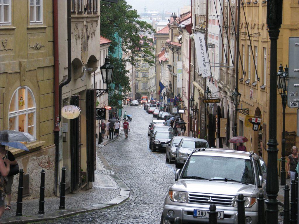 Прага. Улица Нерудова.