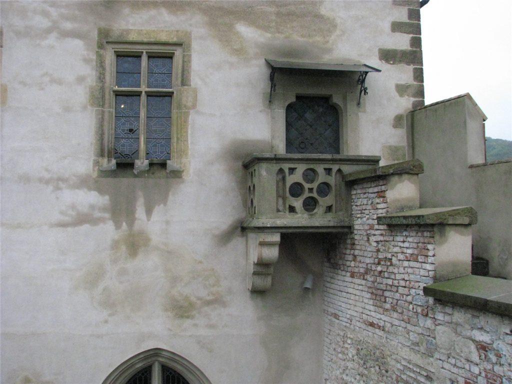 Балкон в замке Карлштейн.
