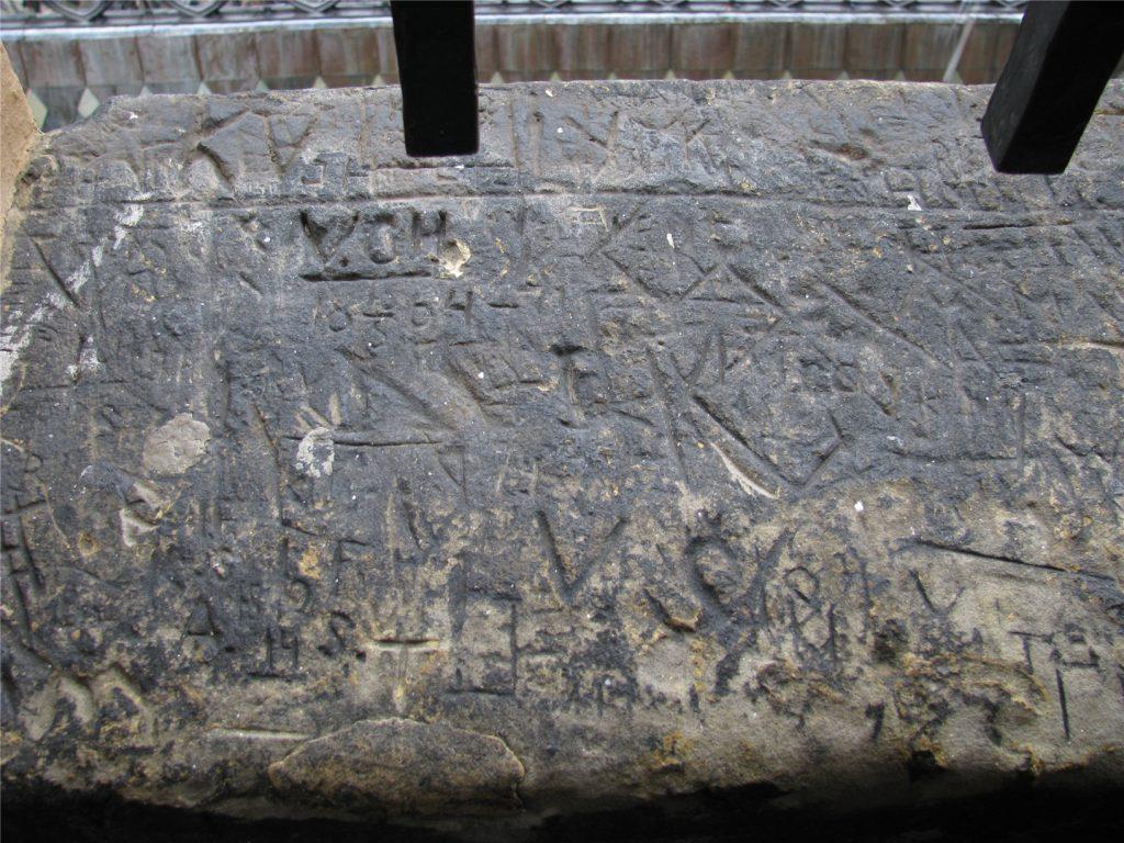 Настенные надписи на южной башне собора св.Вита