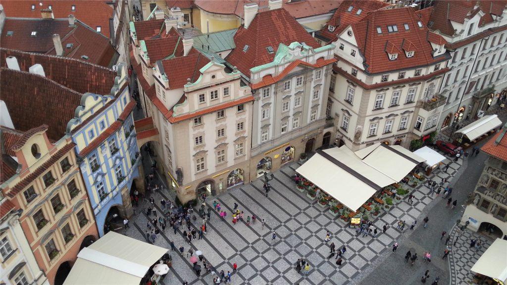 Прага. Виды со Староместской Ратуши.