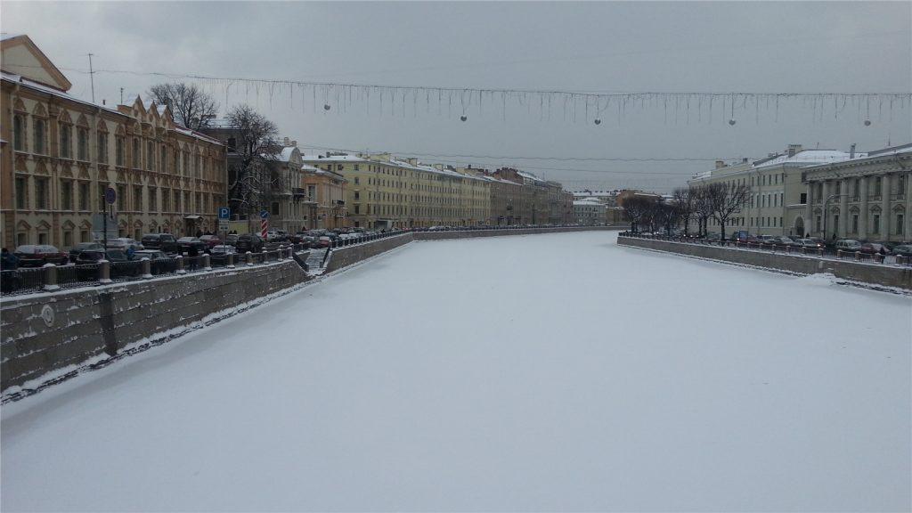 Зимняя Фонтанка в Питере