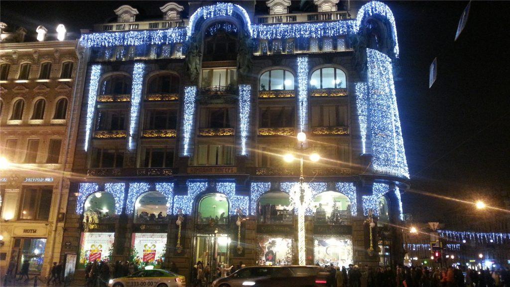 Дом Зингера. Новогодний Санкт-Петербург.