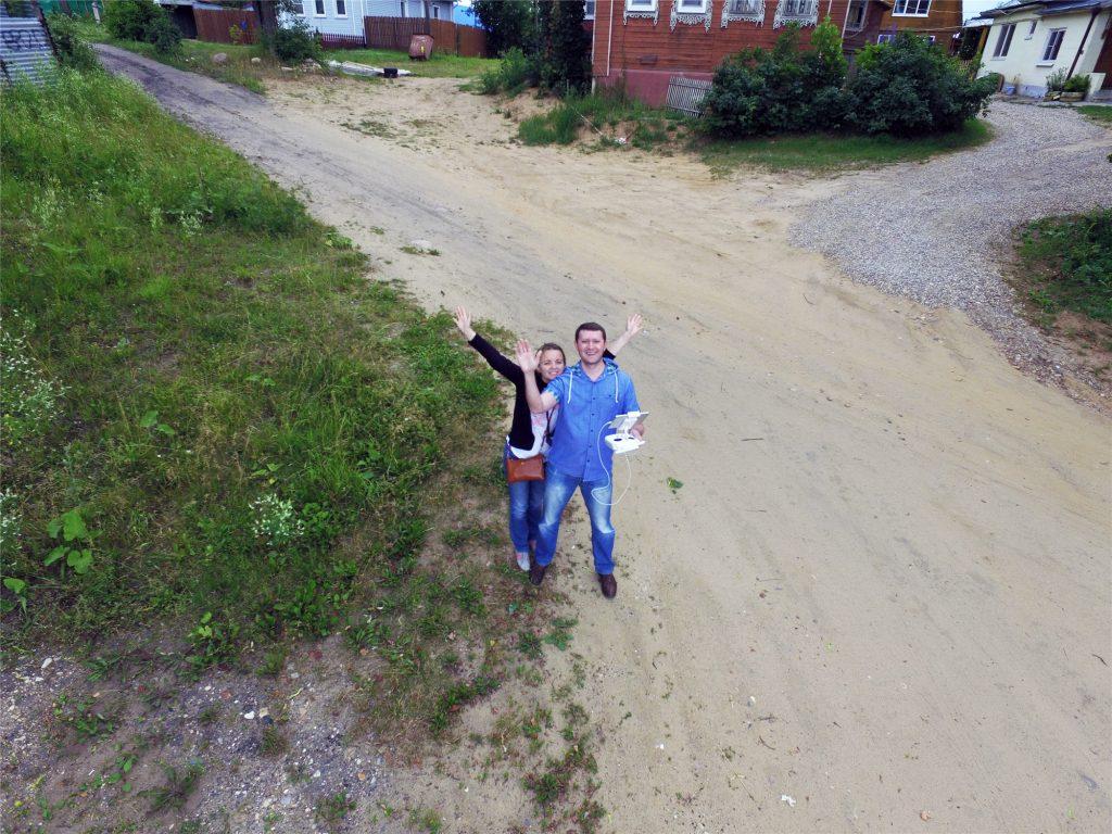Андрей и Аня. Фото с квадрокоптера.