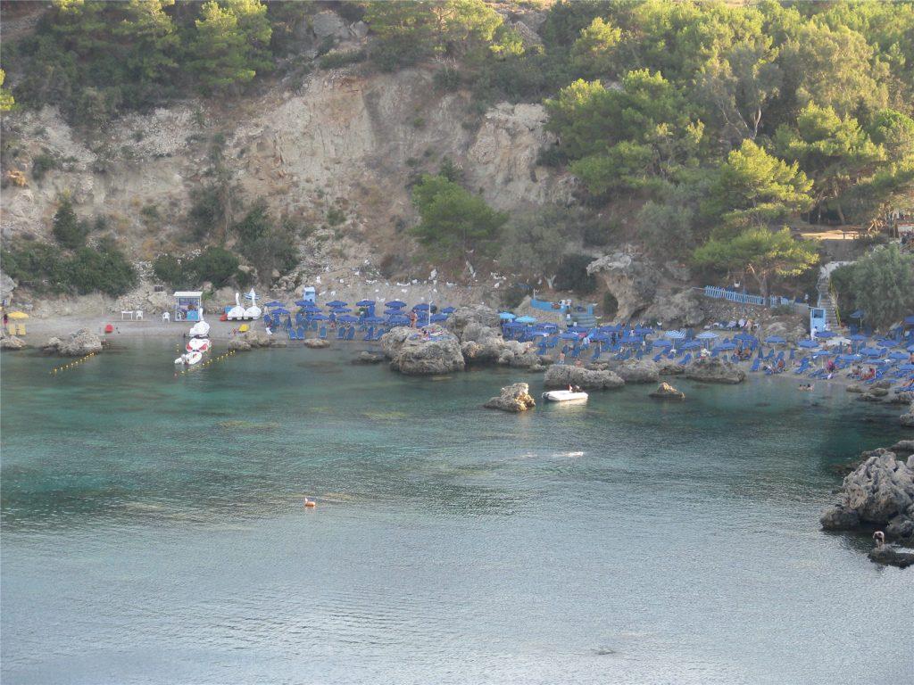 Бухта Энтони Куинна. Фалираки. Родос. Греция.