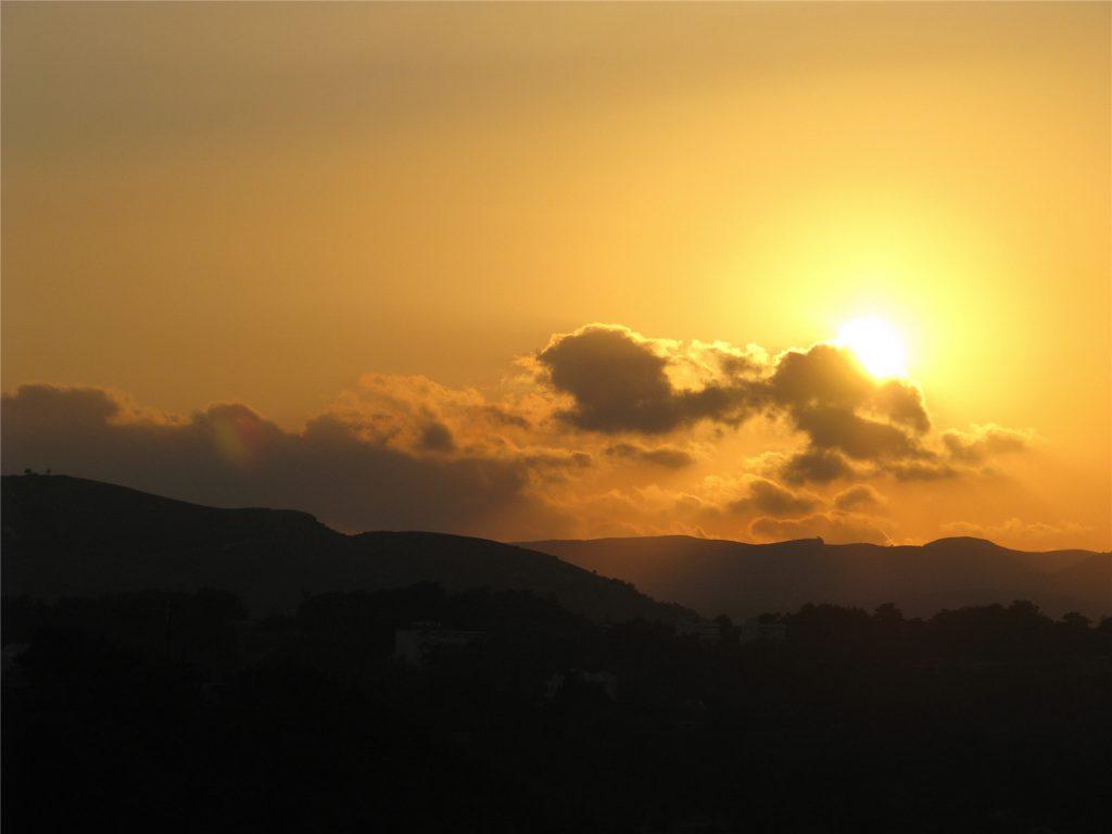 Закат в Фалираки