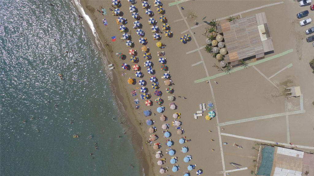 Пляж Цамбика. Вид с дрона. Остров Родос.