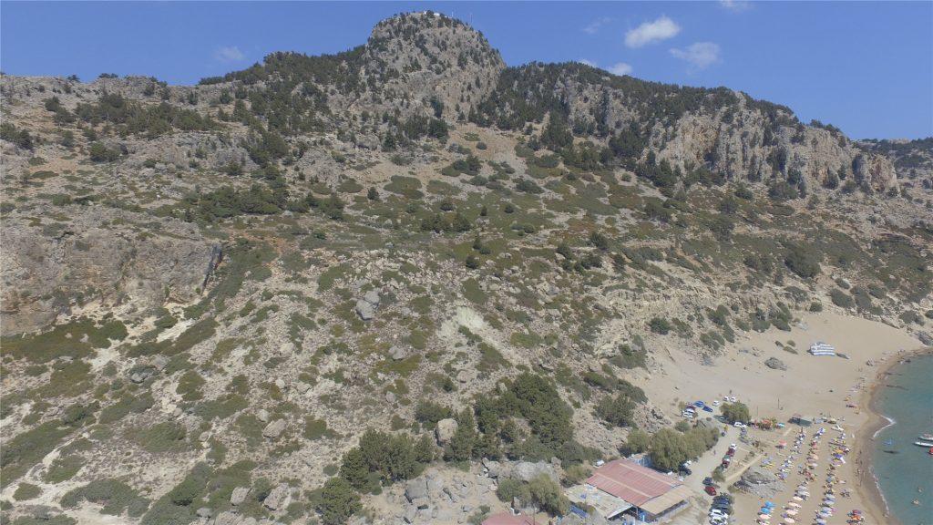 Гора Цамбика. Вид с дрона. Остров Родос.