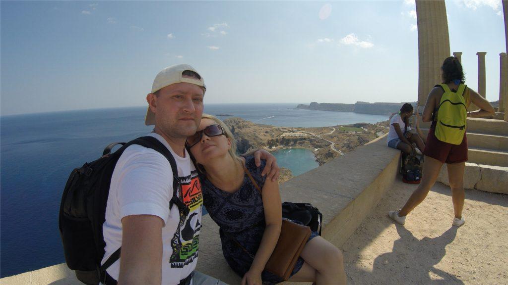 Селфи из Акрополя в Линдосе. Остров Родос. Греция.