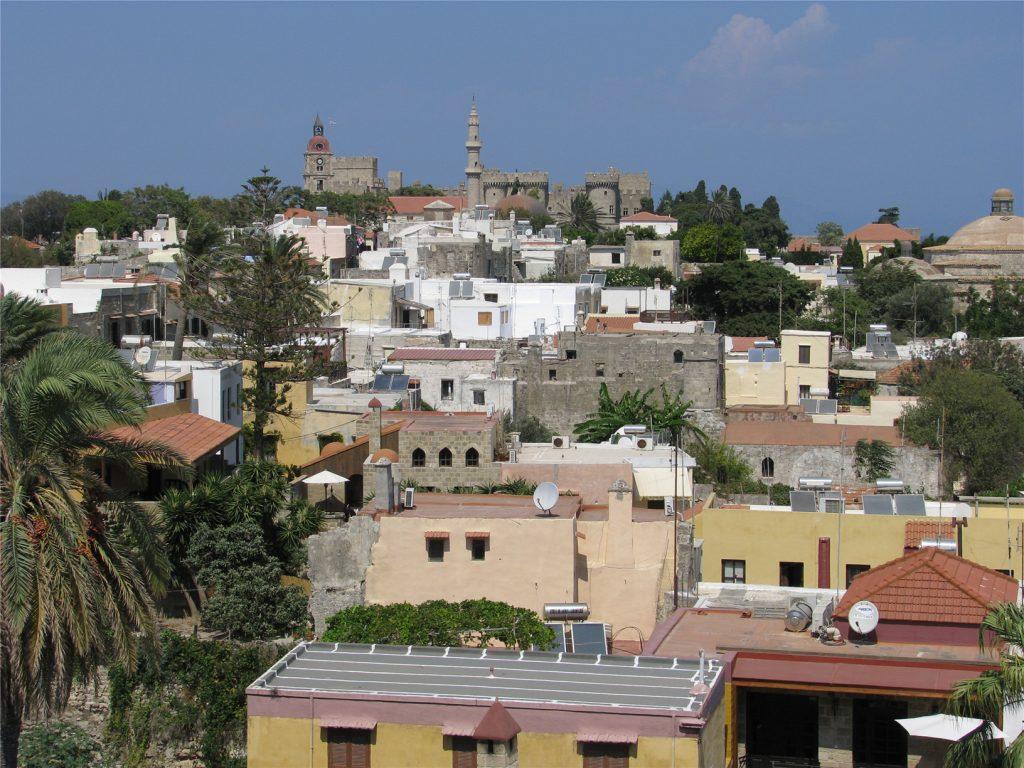 Родос. Старый Город. Панорамный вид с крепостной стены.