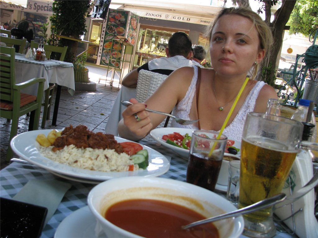 Ресторан Ипирос. Родос.